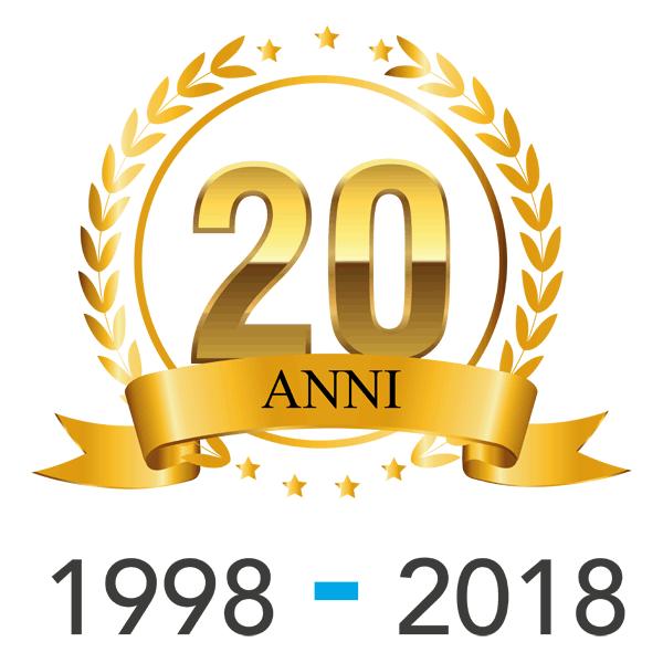 Logo 20 anni Impresa Edile Della Toffola.